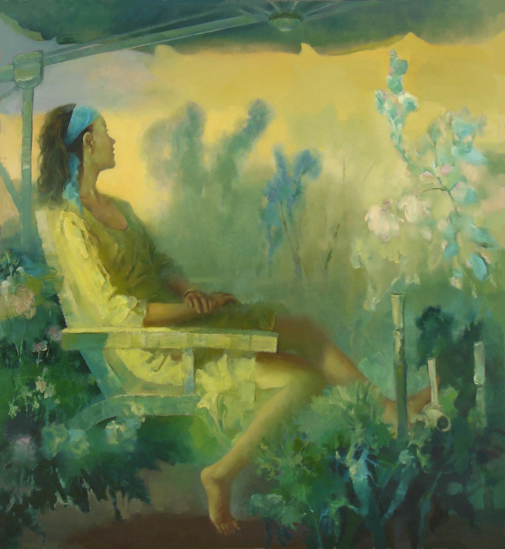 冉卫平人物油画:雾里看花 彰显朦胧美