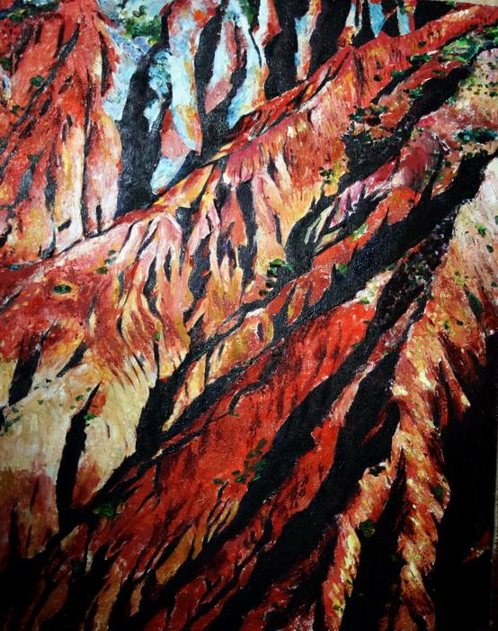 徐春安的油画《岁月》80*100