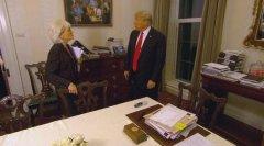 特朗普办公室新画作被网友恶搞 原作者:我只画画