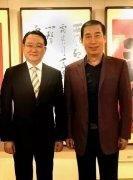 台湾中华民族致公党主席陈柏光一行莅临丁谦书法工作室参观指导