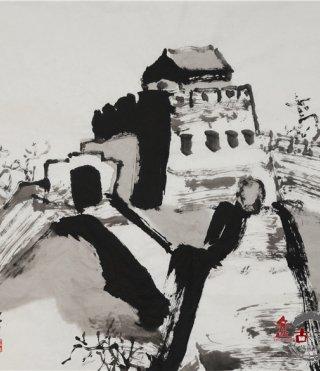仲泊游水墨寻影《北京旧迹》之慕田峪长城