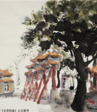 仲泊游水墨寻影《北京旧迹》之云居寺