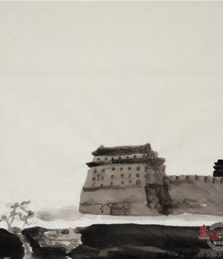 仲泊游水墨寻影《北京旧迹》之阜成门