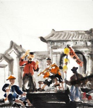 仲泊游水墨寻影《北京旧迹》百辑之戒台寺